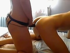 HOT Young Amateur Webcam Strap-On Fucking