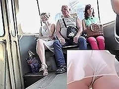 Amateur upskirt XXX video with pretty young girlfriend