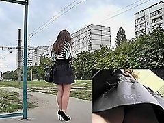 Wonderful upskirt free video about amateur brunette